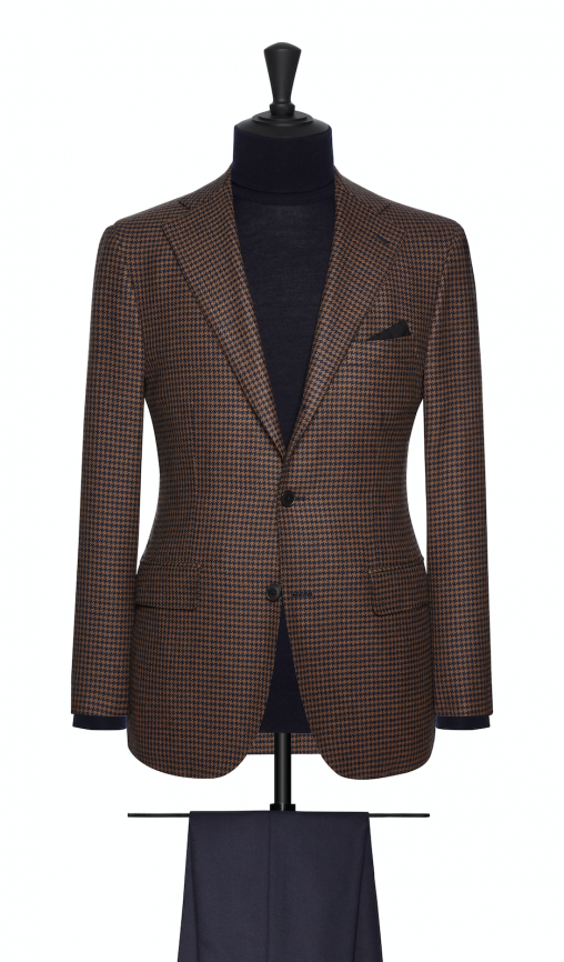 Bactrian by Loro Piana – Natural Houndstooth Jacket-0