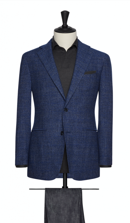 Heathered Wool Blends by Angelico – Woolen Blend Jacket-0