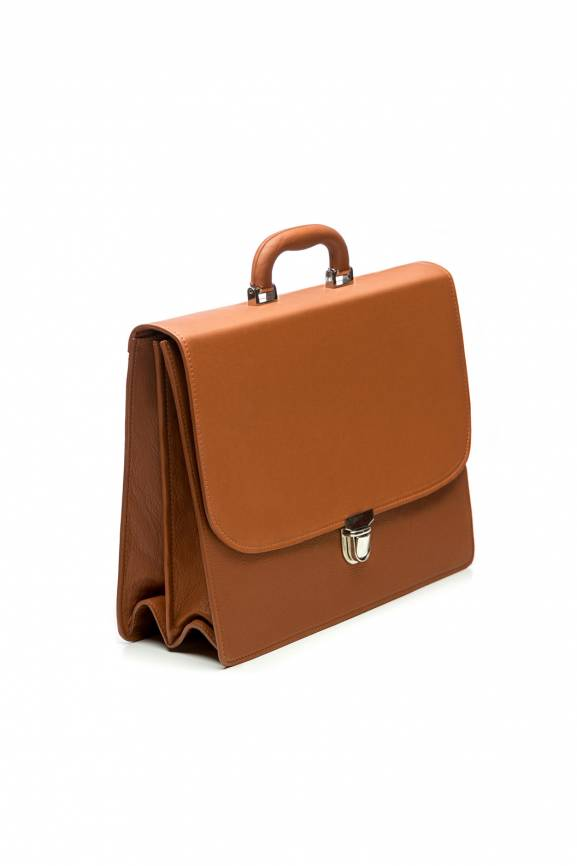 Brown Briefcase Leather-0