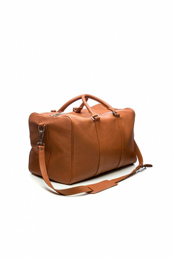 Brown Duffel Bag Leather-0