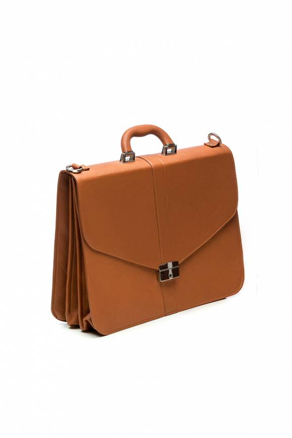 Brown Lawyer Briefcase Leather-0