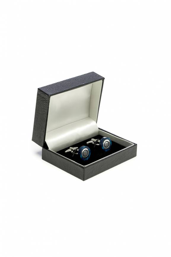 Cat Eye Navy Cufflinks-0