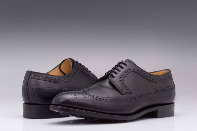 Pantofi Black Derby Brogue English Leather-0