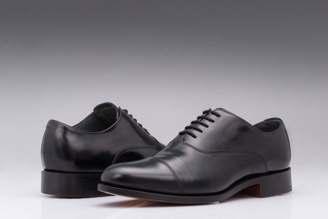Pantofi Black Oxford English Calf Leather-0