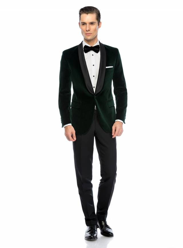Costum Essential Green Velvet-0