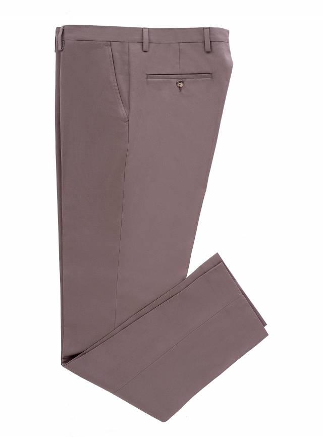 Cotton Brown Trousers-0