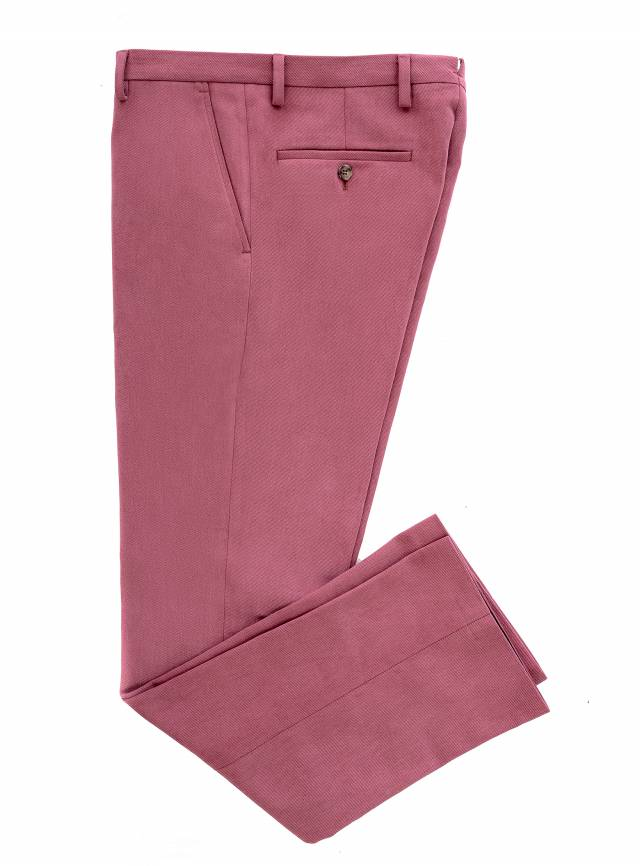 Cotton Burgundy Trousers-0