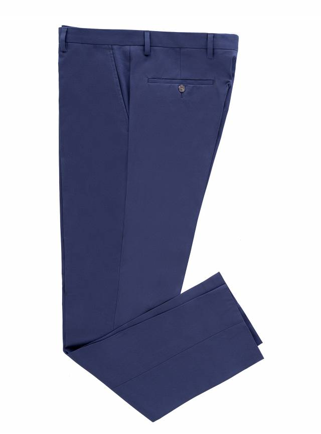 Cotton Navy Trousers-0