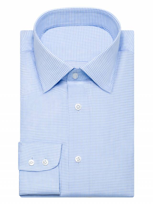 CAMASA LIGHT BLUE CHECKS EGYPTIAN COTTON-0