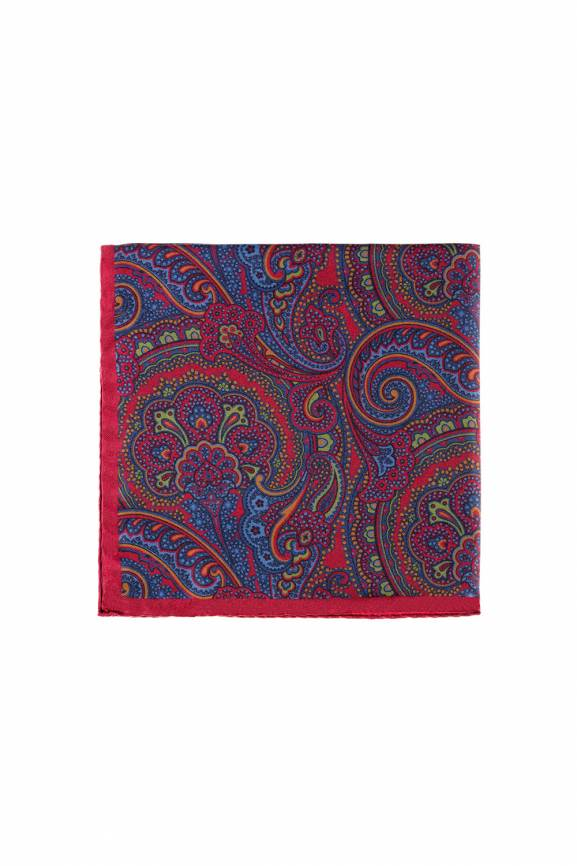 Red Paisley Pocket Square-0