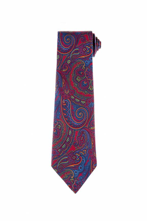 Red Paisley Tie-0