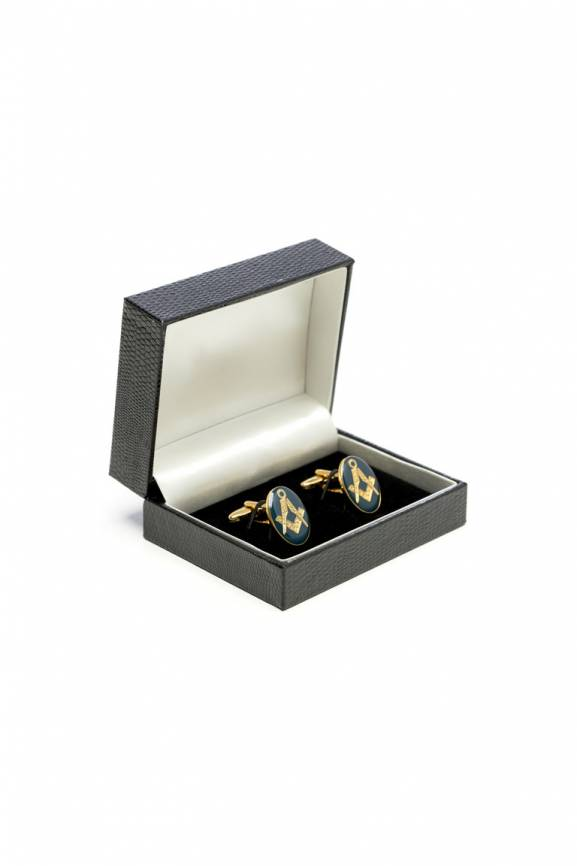Oval Masonic Cufflinks-0
