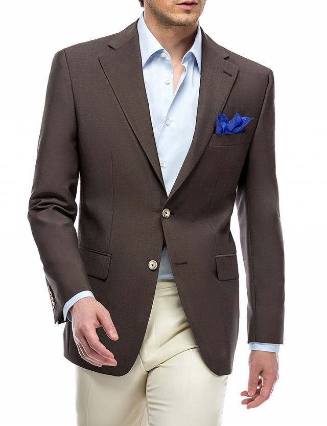 Sacou Classic Worsted Brown Solid-0