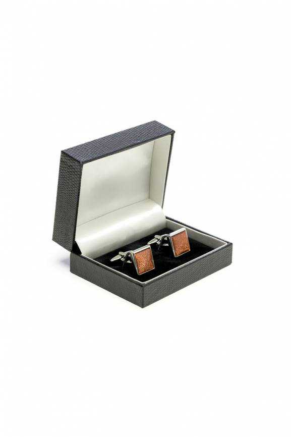 Square Cab Brown Cufflinks-0