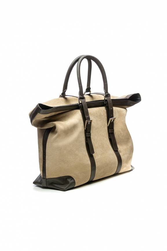 Travel Bag Leather Suede-0